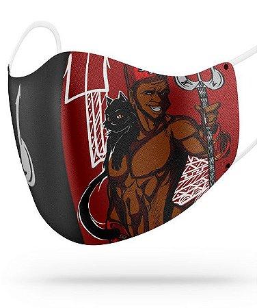 Máscara de proteção em pano -  Exú místico