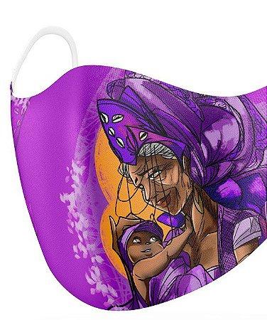 Máscara de proteção em pano -  Nanã, senhora da humanidade