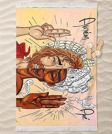 Canga de praia - Oxalá e Jesus, Axé e Amém
