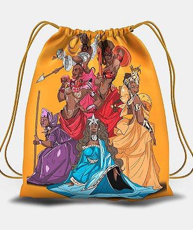 Sacola com cordões - Yabás, rainhas negras
