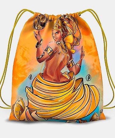 Sacola com cordões - Oxum, rainha divina