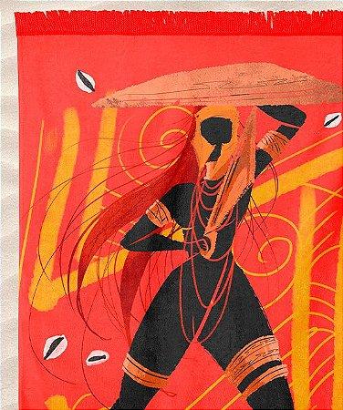 Canga de praia - Orixá Obá, coleção tribal