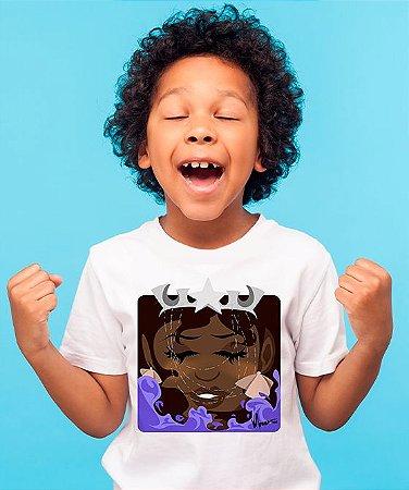 Camiseta infantil - Yemanjá, rainha Minecraft