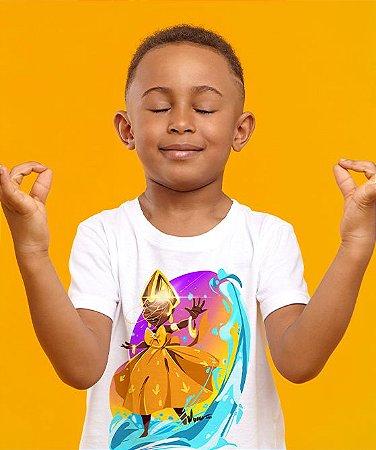 Camiseta infantil - Oxum, menina das águas doces