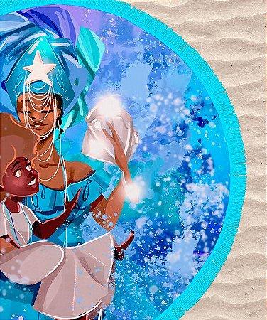Canga de praia Redonda - Yemanjá, a mãe sereia