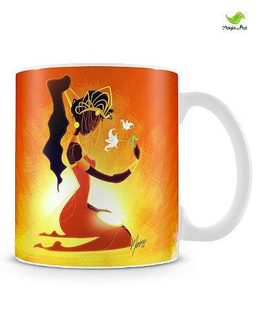 Caneca personalizada - Oxum, rainha dos Lírios