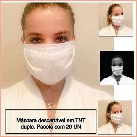 Máscara Descartável em TNT  - 20 unidades