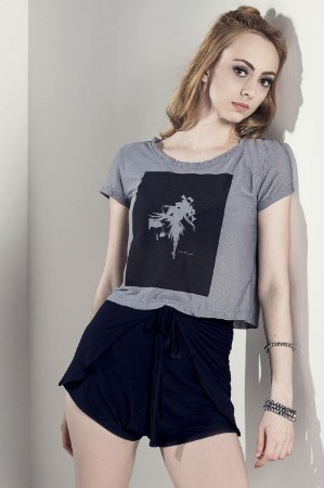 Cropped Cinza