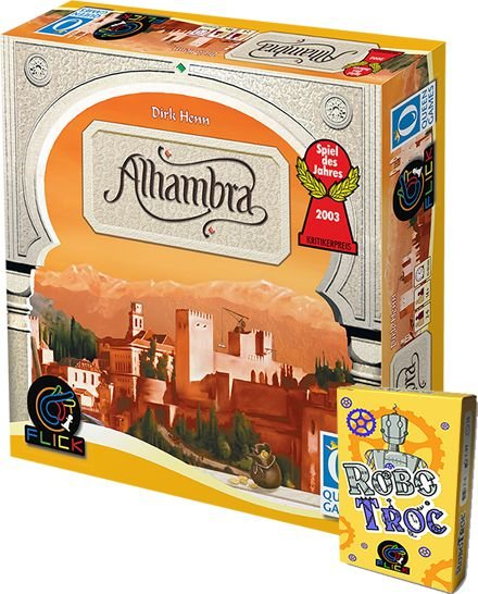 Pré Venda - Alhambra + RoboTroc + Promo Robotroc + 2 Promos Alhambra