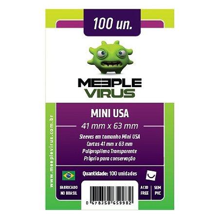 Sleeves Meeple Virus: Mini USA (41 x 63 mm) – Pacote c/100
