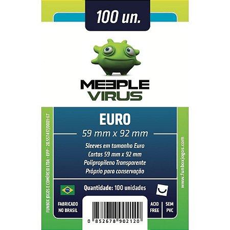 Sleeves Meeple Virus: Euro (59 X 92 mm) – Pacote C/100