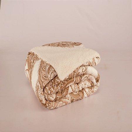 Cobertor Top Line King Lã de Carneiro 1 peça Malaga