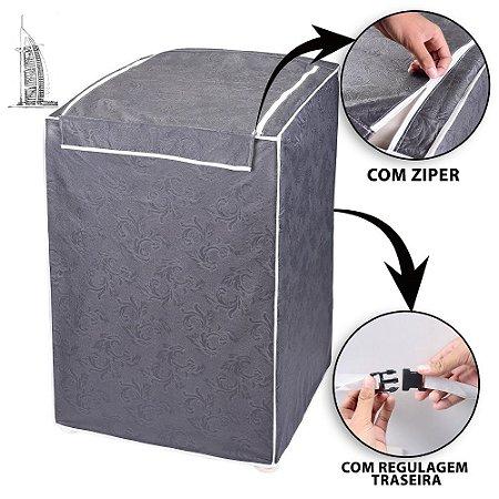 Capa para Tanquinho Impermeável 8 kg Lavar Roupa Cinza