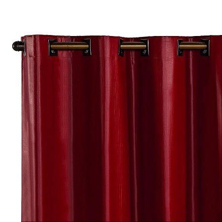 Cortina Blackout PVC corta 100 % a luz 2,80 m x 1,80 m Vermelha