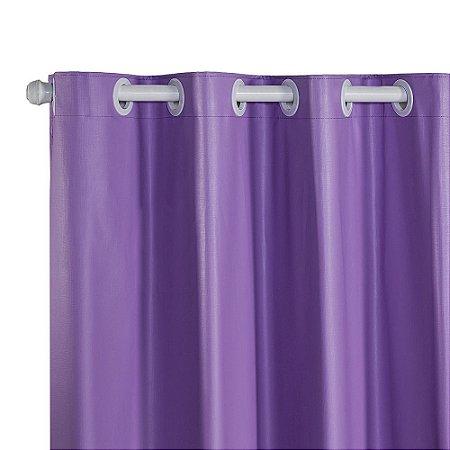 Cortina Blackout PVC corta 100 % a luz 2,80 m x 1,80 m Lilás