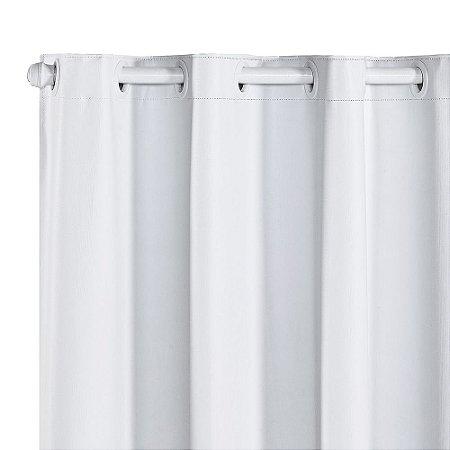 Cortina Blackout PVC corta 100 % a luz 2,80 m x 1,80 m Branca