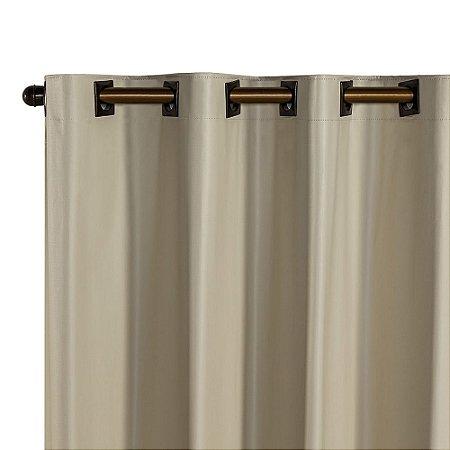 Cortina Blackout PVC corta 100 % a luz 2,80 m x 1,80 m Bege