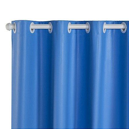 Cortina Blackout PVC corta 100 % a luz 2,80 m x 1,80 m Azul