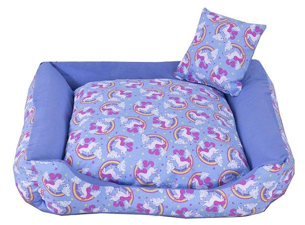 Cama Pet Tricoline Para Cachorro E Gato Tam M Unicolors Azul