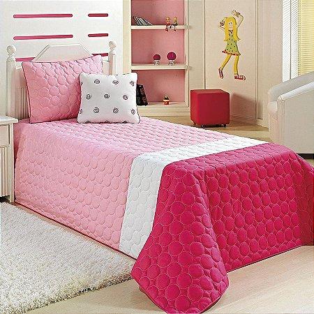 Cobre Leito My Net Solteiro 4 Peças Pink