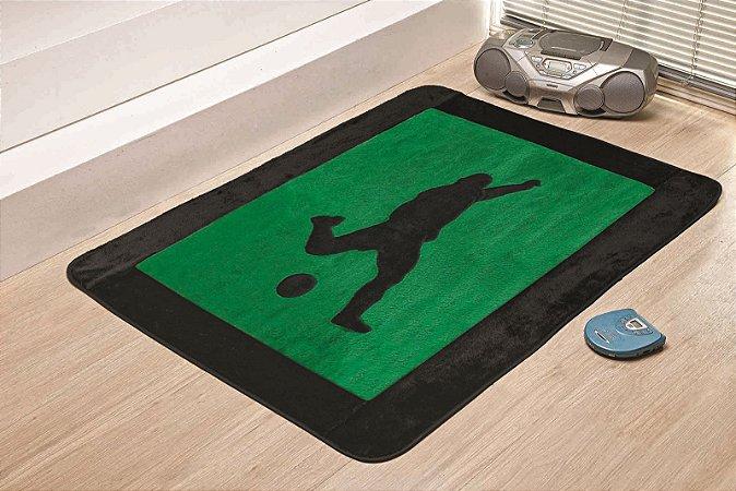 Tapete Passadeira Antiderrapante Futebol Verde