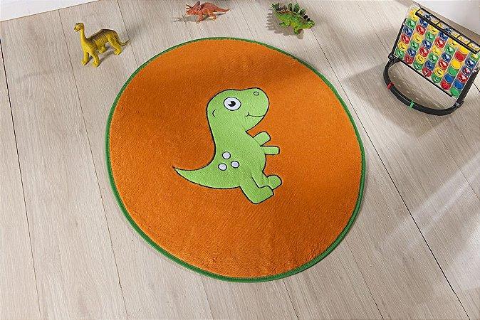 Tapete Formato Baby Antiderrapante Dino Baby Laranja