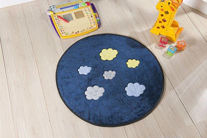 Tapete Formato Baby Antiderrapante Céu Azul Marinho