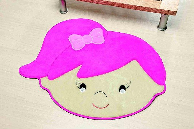 Tapete Formato Base Feltro Antiderrapante Menina Livia Pink