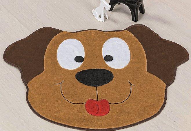 Tapete Formato Feltro Antiderrapante Cachorro Feliz Caramelo