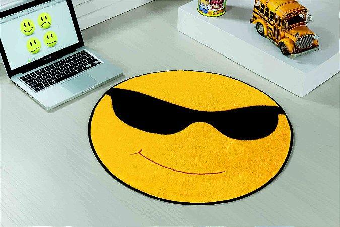 Tapete Formato Feltro Antiderrapante Emoji Óculos