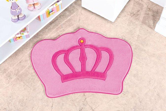 Tapete Formato Feltro Antiderrapante Coroa Rosa