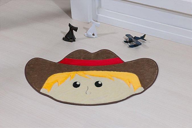 Tapete Formato Feltro Antiderrapante Menino Cowboy Castor