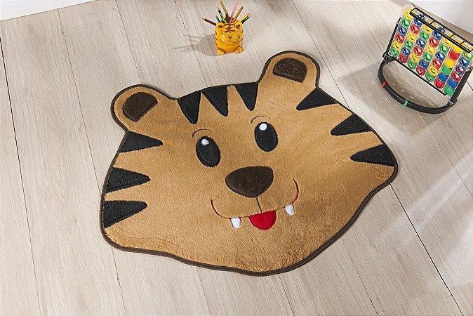 Tapete Formato Feltro Antiderrapante Tigre Caramelo