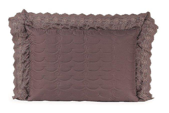 Porta Travesseiro Com Laise Jardine 1 peça