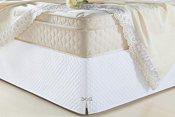 Saia Box para Cama Casal Queen Veneza Branco