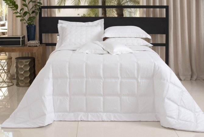 Cobre Leito Balli King 400 fios 100% algodão 5 peças Branco