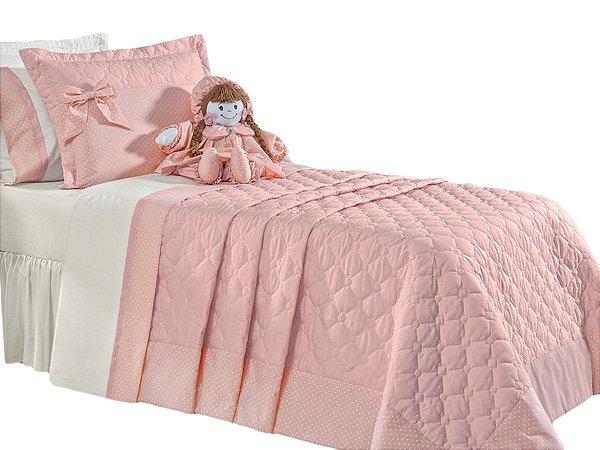 Cobre Leito Bambina Solteiro 3 Peças Boneca Nude Rosado
