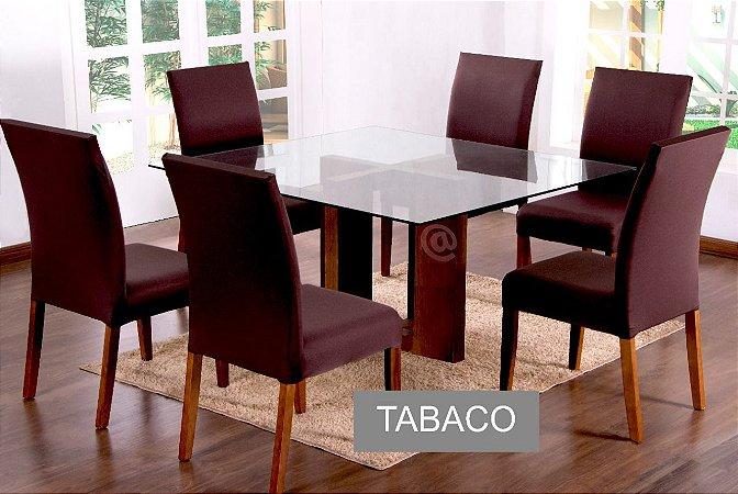 Kit Capa De Cadeira Lisa 2 Peças Tabaco