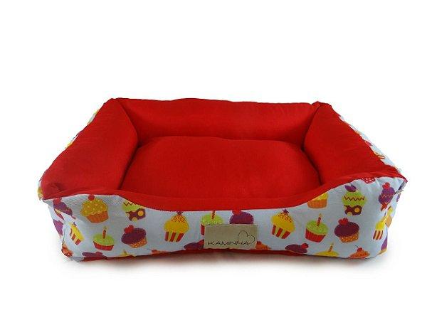 Cama Pet para Cachorro e Gato Dupla face Cupcake Tamanho P