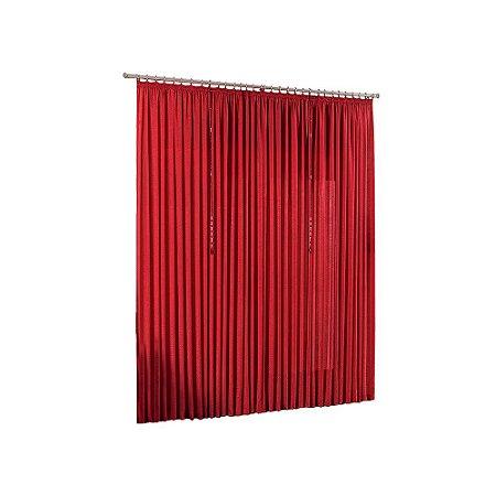 Cortina Quarto Sala Varão Seda Amore Vermelha 3,00m x 2,80m