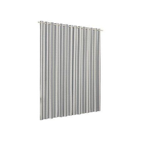 Cortina Quarto Sala Varão Califórnia Cinza 3,00m x 2,80m