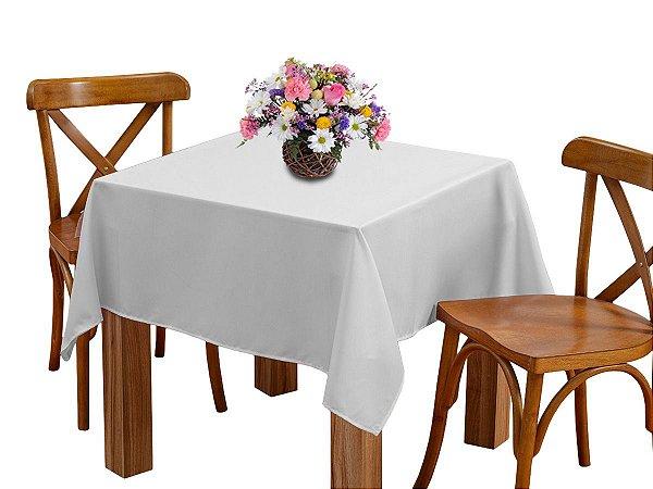 Toalha de mesa 4 Lugares 1,45m Quadrada Oxford Liso Branca