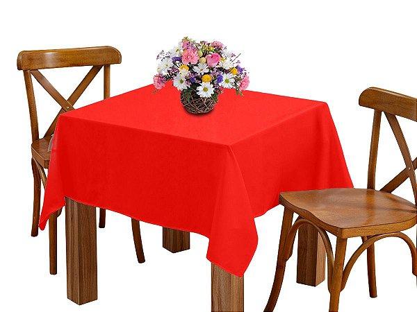 Toalha de mesa 4 Lugares 1,45m Quadrada Oxford Liso Vermelho