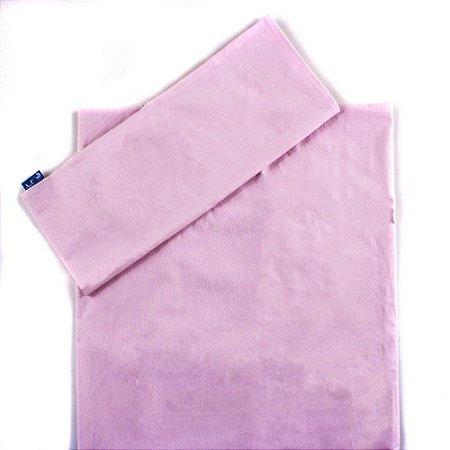 Jogo de Lençol de Berço 2 Peças Percal 100% algodão Rosa