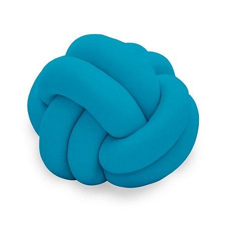Almofada Infantil de Malha em Formato Nozinho Azul