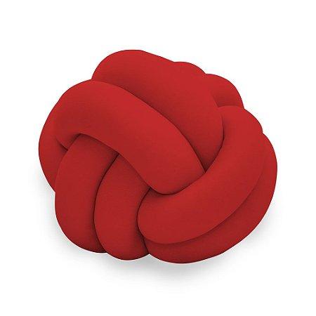 Almofada Infantil de Malha em Formato Nozinho Vermelha