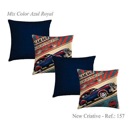 Kit com 4 Capas de Almofadas New Criative Royal 157