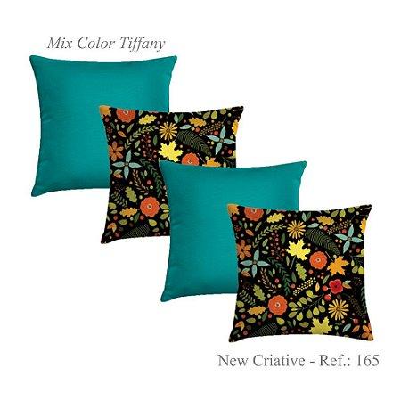 Kit com 4 Capas de Almofadas New Criative Tiffany 165