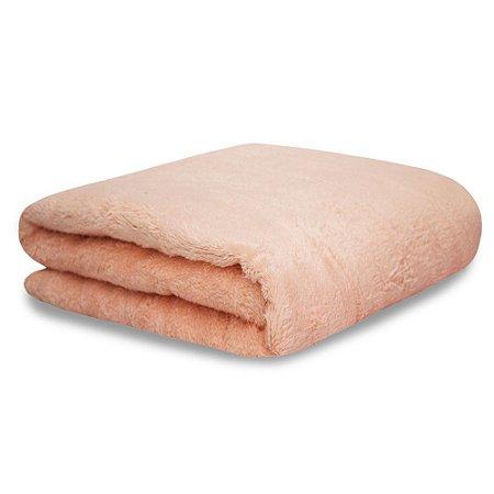 Mantinha Soft Fleece Premium 2,00m x 1,80m Rosa Pessêgo
