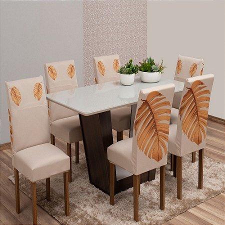Kit com 6 Capa para Cadeiras Jantar Paris Est. 5